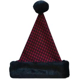 "17"" Houndstooth Santa Hat thumb"