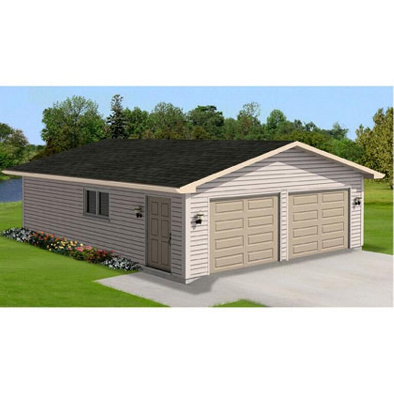 28' X 30' 2 Door Garage Package, With Complete Exterior