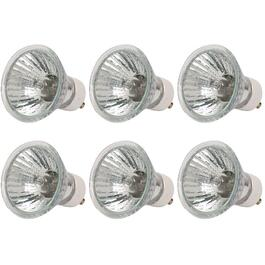 6 Pack 35W MR16 GU10 Base Halogen Light Bulbs thumb