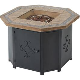 "36"" Octagon Steel Propane Firepit Table thumb"