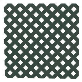 4' x 8' Dark Green Diamond Vinyl Privacy Lattice thumb