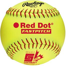 "12"" Yellow Red Dot Softball thumb"