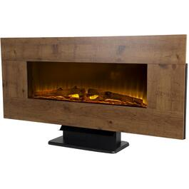 "42"" Wall Mount Electric Fireplace with Reversible Frame, Rustic Barnboard /Washed Driftwood thumb"