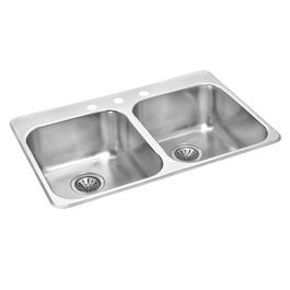 "32"" x 21"" x 7 1/8"" Stainless Steel Double Drop In Kitchen Sink thumb"