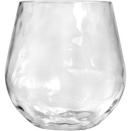 17.5oz Hammered Clear Stemless Wine Glass thumb