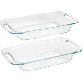 2 Piece Glass Oblong Easy Grab Dish Set thumb