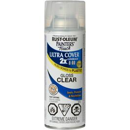 340g Painters Touch 2X Clear Gloss Alkyd Spray Paint thumb