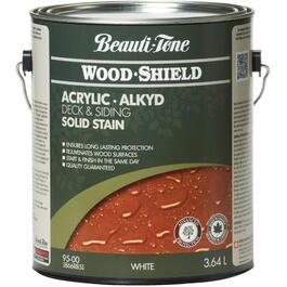 3.64L Solid White Base Alkyd Acrylic Wood Stain thumb