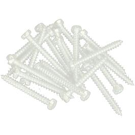"100 Pack 6"" x 5/8"" Linen Pan Head Screws, for Aluminum Soffit and Fascia thumb"
