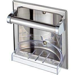 Chrome Recessed Soap Holder thumb