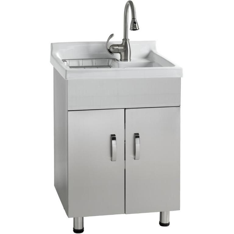 Stainless Steel Laundry Cabinet With China Sink Home