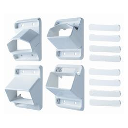 4 Pack Yardcrafters White Wallmount Staircase Connectors thumb