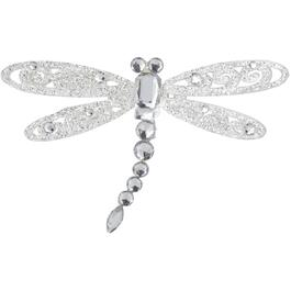 "5"" Winged Silver and  Acrylic Ornament, Assorted Models thumb"