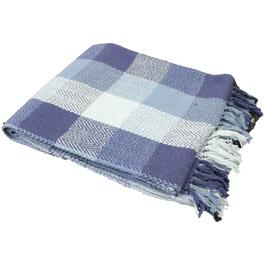 "50"" x 60"" Navy Herringbone Check Accent Throw thumb"
