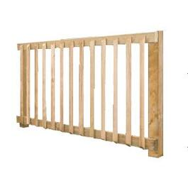 "36""H x 6'W Cedar Baluster Railing Package thumb"