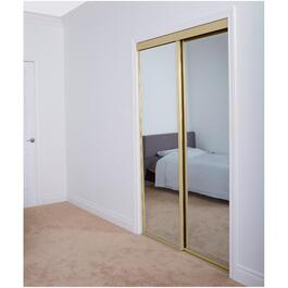 "48"" x 80"" Champagne Top Roll Mirror Sliding Door thumb"
