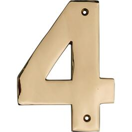 "5"" Polished Copper '4' House Number thumb"