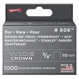 "1000 Pack 3/8"" Wide-Crown Staples, for #800X Stapler thumb"