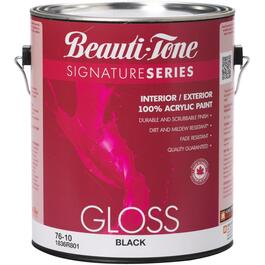 3.7L Gloss Black Interior/Exterior Latex Paint thumb