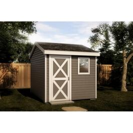 Vinyl Siding Option Package, for 12' x 8' Side Entry Gable Shed thumb