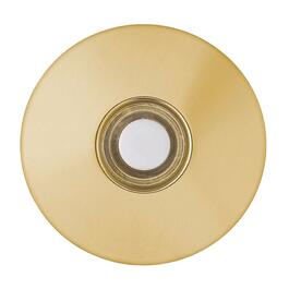 Lighted Wired Round Brass Doorbell Push Button thumb