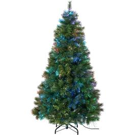 7' Fibre Optics Cashmere Tree, with Dancing Colour Changing Lights thumb
