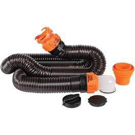 Rhinoflex RV Sewer Hose Kit, with 15' Hose and Swivel Fittings thumb