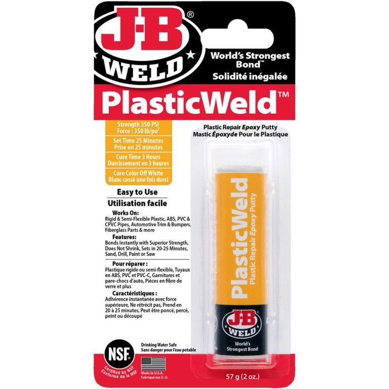 J-B WELD 2oz PlasticWeld Epoxy Putty