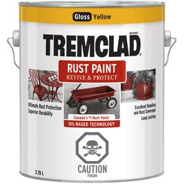 3.78L Gloss Yellow Alkyd Rust Paint thumb