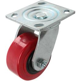 "4"" Polyurethane Wheel Swivel Plate Caster thumb"