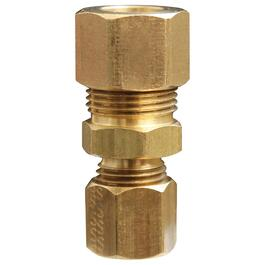 "3/8"" x 1/4"" Double Brass Compression Union thumb"