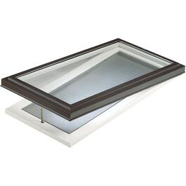 "28"" x 52"" Curb Mount Vent LOE Glass Skylight thumb"