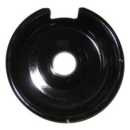 "6"" Black Porcelain Drip Pan thumb"