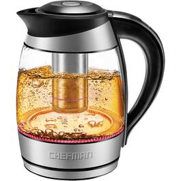 1.8 Litre Cordless Glass Jug Kettle, with Tea Infuser and LED Lights thumb