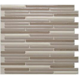 "6 Pack 9.1"" x 10.2"" Loft Beige Peel and Stick Tiles thumb"