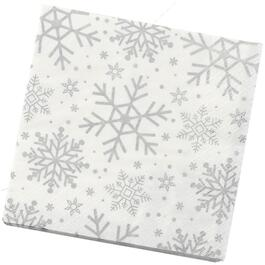 16 Pack Snowflake Paper Lunch Napkins thumb