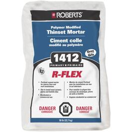 50lb Grey Polymer Modified R-Flex Thinset Tile Mortar thumb