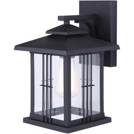 Yuna Outdoor Downward Black Coach Light Fixture with Clear Glass thumb