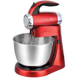 300 Watt 7 Speed Metallic Red Power-Up Stand Mixer, with 3.0 Quart Bowl thumb