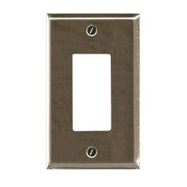 1 Device Brushed Nickel Switch Plate thumb