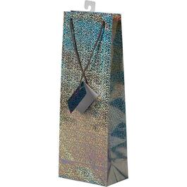 Paper Christmas Gift Bag, for Wine Bottle, Assorted Colours thumb