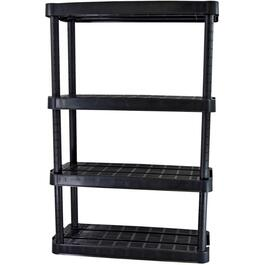 "32"" x 14"" x 54-1/2"" 4 Shelf Medium Duty Black Poly Shelving Unit thumb"