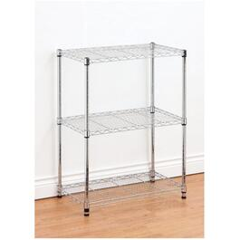 "14"" x 24"" x 30"" 3 Shelf Chrome Wire Shelving Unit thumb"