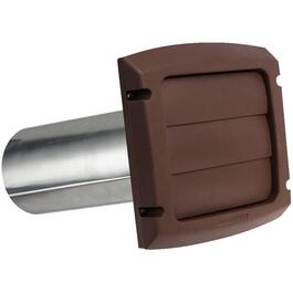 "4"" Louvered Brown Vent Hood, with Tailpiece thumb"