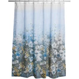 "70"" x 72"" Anna Blue Polyester Shower Curtain thumb"