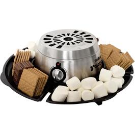 Black and Stainless Steel S'mores and Fondue Maker thumb
