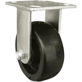 "6"" Polypropylene Wheel Industrial Rigid Plate Caster thumb"