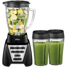 1200 Watt 7 Speed Black Blender, with Jar and 2 24oz Smoothy Cups thumb