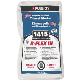 50lb Grey Enhanced Polymer Modified R-Flex III Thinset Tile Mortar thumb