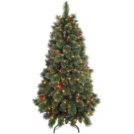 5.5' Cashmere & Glitter Christmas Tree, with 200 Lights thumb